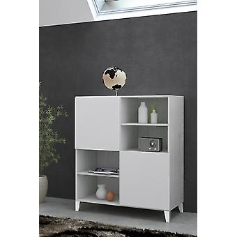 Mobile Linea 2 Color Bianco in Truciolare, Plastica, Ferro 95x51,5x115 cm