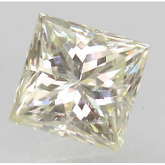Certified 0.75 Carat I VVS2 Princess Enhanced Natural Diamond 4.88x4.82mm 2VG