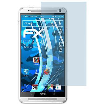 atFoliX Glass Protector kompatybilny ze szklaną folią ochronną HTC One Max 9H Hybrid-Glass