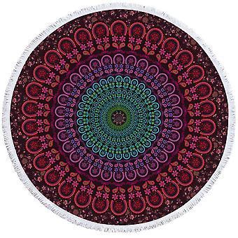 Turkis purplish Mandala strand håndklæde