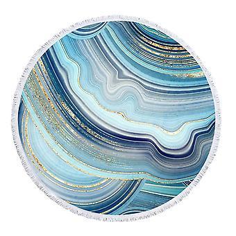 Blåaktig marmor strandhandduk