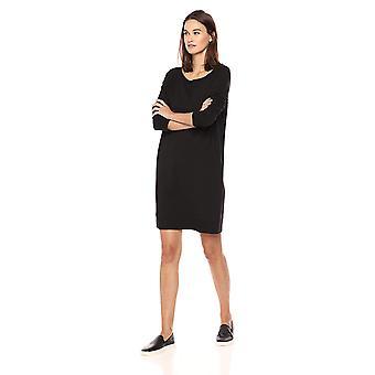 Daily Ritual Women's Terry Cotton and Modal Dorito High-Low Sweatshirt Dress,...