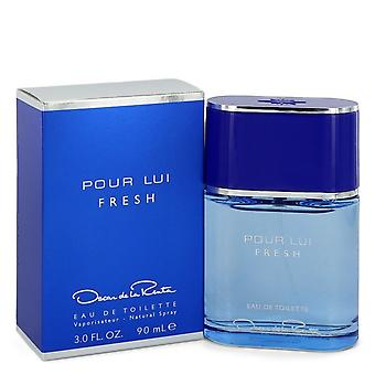 Oscar pour lui Fresh door Oscar de la Renta Eau de Toilette Spray 3 oz/90 ml (mannen)