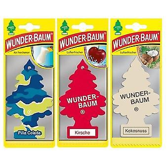 Perfumado Wunder-Baum (Pina Colada + Cereza + Coco) 3-Pack