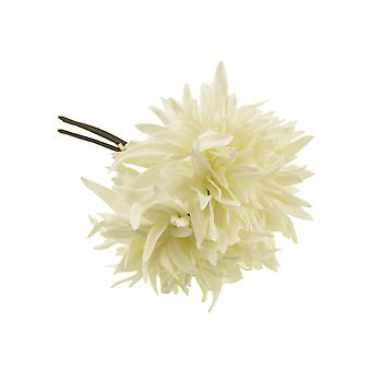 27cm Cream Dahlia - 3 Short Artificial Fabric Flower Stems