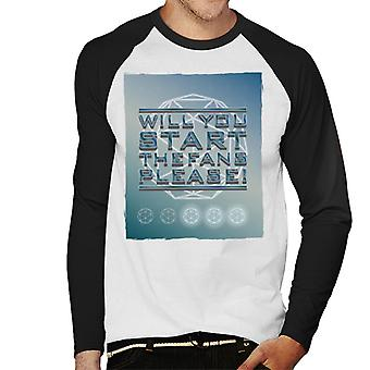 The Crystal Maze Will You Start The Fans Please Tonal Men's Baseball Long Sleeved T-Shirt