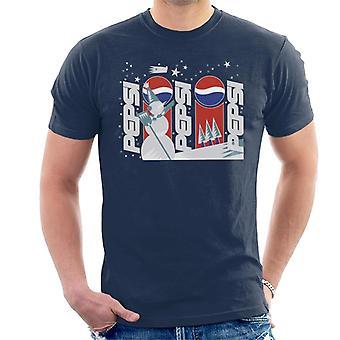Pepsi Retro Schneemann Winter Herren T-Shirt
