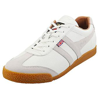 Gola Harrier 317 -made In England- Mens Classic Trainers in White White