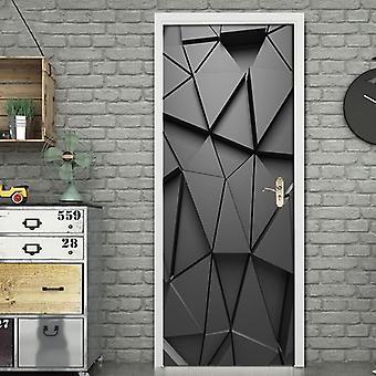 3d Wandbild Diy Tür Aufkleber für Wohnzimmer Schlafzimmer Home Decor - Poster Pvc selbstklebende wasserdichte kreative Tür Aufkleber Aufkleber