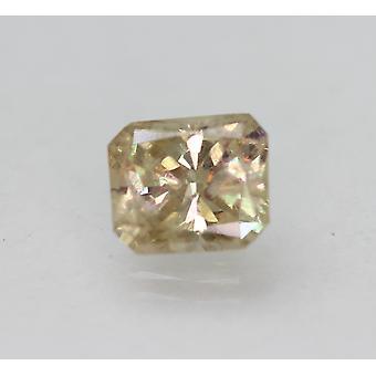 Cert 2,03 karaatin ruskea keltainen SI2 säteilevä parannettu luonnollinen timantti 7,97x7.01mm