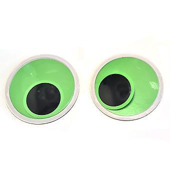 1 Pair 15cm Self Adhesive Glow in the Dark Googly Eyes | Wiggly Wobbly Eyes