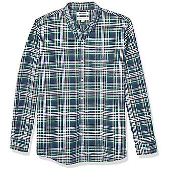 Brand - Goodthreads Men's Standard-Fit Long-Sleeve Plaid Oxford Shirt,...