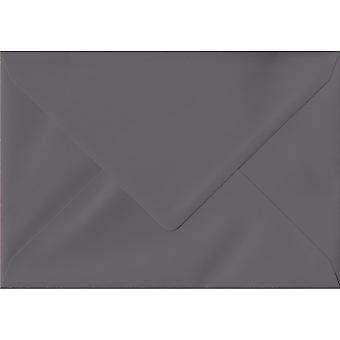 Vintage Grey Gummed C6/A6 Gekleurde grijze enveloppen. 135gsm GF Smith Colorplan Papier. 114mm x 162mm. Banker Style Envelop.