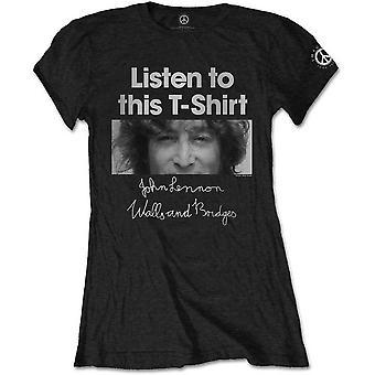 Ladies John Lennon Listen Lady Official Tee T-Shirt Female