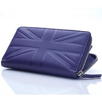 Thistle zip wallet in Britannia leather