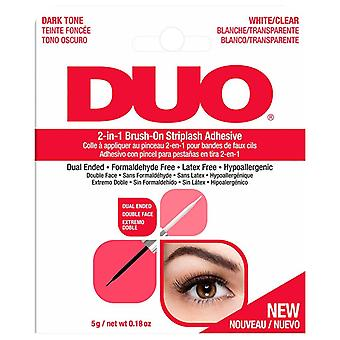 DUO Brush On Strip False Lash Adhesive - 5g White / Clear - Hypoallergenic Glue