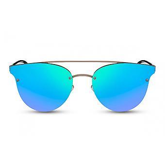 Okulary przeciwsłoneczne Unisex Panto złoty/niebieski (CWI1604)