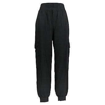 Anybody Women's Pants Cozy Knit Cargo Joggers Black A310169