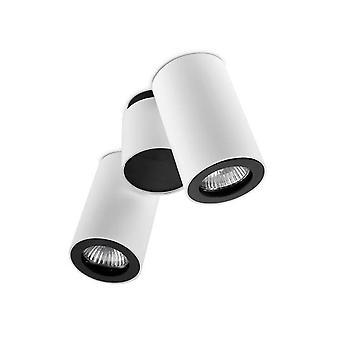 2 Lumière Double Réglable Plafond Lumière Blanc, Noir, GU10