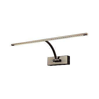 Large 1 Arm Wall Lamp, Picture Light, 1 x 10W LED, 3000K, 850lm, Bronze