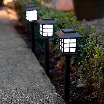 2pcs/lot Square Lantern Style Waterproof Led Solar Light For Landscape  Garden  Lawn  Yard  Park Decoration