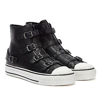 ASH Virgin Leather Womens Black Trainers
