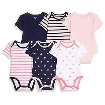 Essentials Girls' Baby 6-Pack Short-Sleeve Body