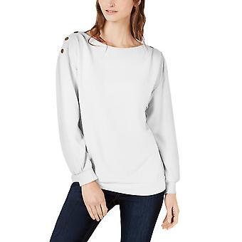 1.State | Cozy Metallic-Trim Sweatshirt
