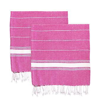 Nicola Spring 100% Turkish Cotton Towel Set | Beach Bath Gym Sauna - Pink - Pack of 4