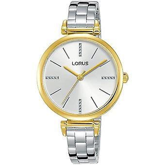 Lorus Damen schlank poliert Edelstahl Armband Uhr mit lichten Gold Zifferblatt