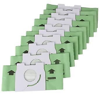 10 x kétrétegű porszívó zöld papír porzsák 50mm
