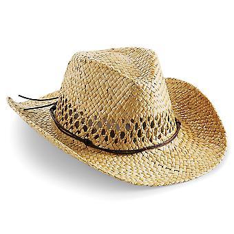 Sombrero de paja vaquero Beechfield Unisex