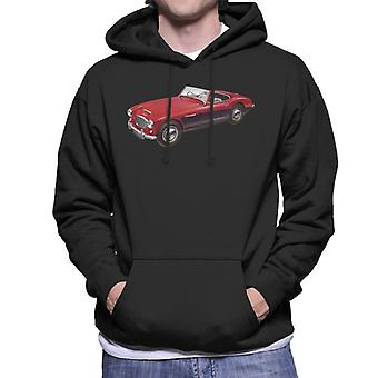 Austin Healey 3000 Mark II Red British Motor Heritage Men's Hooded Sweatshirt
