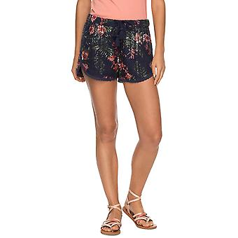 Roxy   Wild Red Earth Texturé Floral Print Shorts