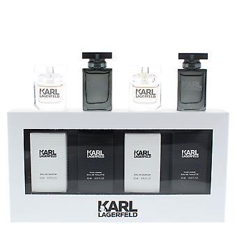 Karl Lagerfeld 2 x Eau de Parfum 45ml & 2 x Eau de Toilette 45ml Mini Set