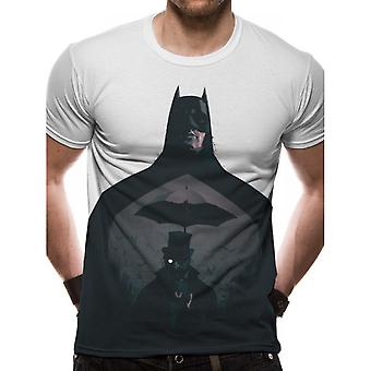 Batman unisex adultos silhueta design sublimated T-shirt