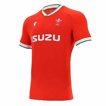 2020-2021 Wales Home Pro Body Fit Rugby Camisa