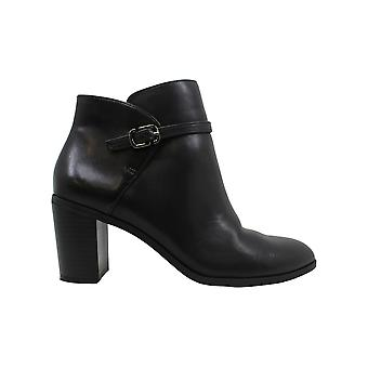 Alfani Womens Nadennel Leather Almond Toe Ankle Fashion Boots