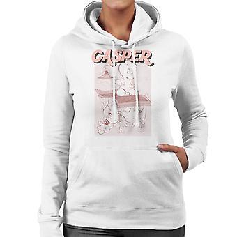 Casper The Friendly Ghost Characters On Flying Carpet Women's Hooded Sweatshirt