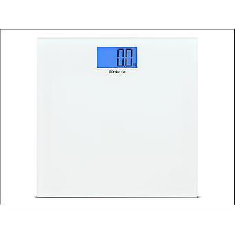 Brabantia Bathroom Scales Glass White 483127