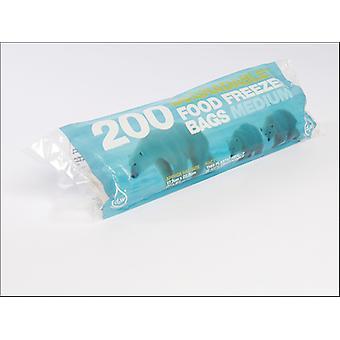 Essential Tuffy Degradable Freezer Bags Medium x 200 10853