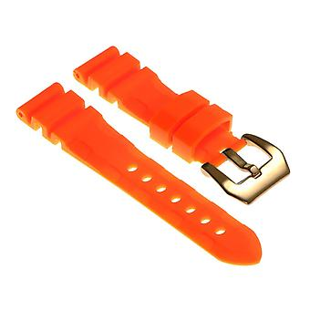 Strapsco rubber-watch-strap-with-yellow-gold-pre-v-buckle