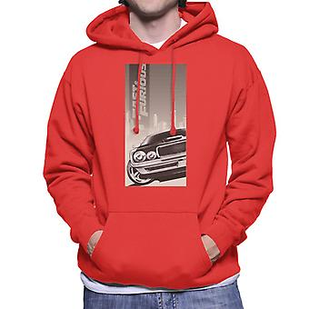 Fast and Furious Dodge Charger City Backdrop Men's Hooded Sweatshirt