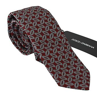 Dolce & Gabbana Punainen 100% Silkki painettu leveä solmio miesten solmio