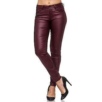 Women Leather Optic Treggings Biker Sexy Stretch Pants Skinny Faux Tube Jeggings