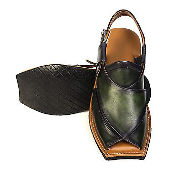 Maestro stealth mens cowhide streaky leather sandals