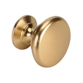 4pcs Cabinet Hardware Round Knob Single Hole Handles D002 Gold 3cm