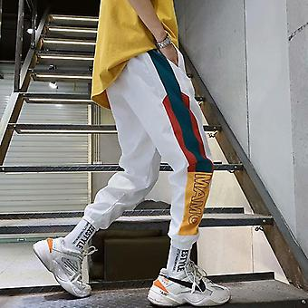 Hip Hop Streetwear Men's Splice Joggers Pants Fashion Casual Cargo Trousers