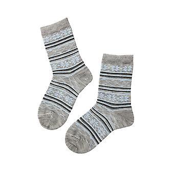 Patterned Merino Socks