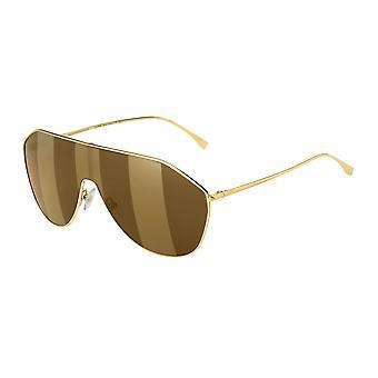 فيندي FF0405/S 01Q/EB الذهب براون / براون مرآة الذهب النظارات الشمسية